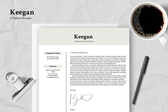 keegan customizable résumé resume templates creative market