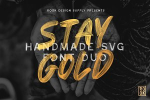 Stay Gold SVG Font Duo