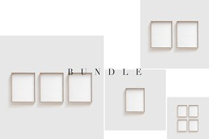 Wooden Frame Mockup Bundle