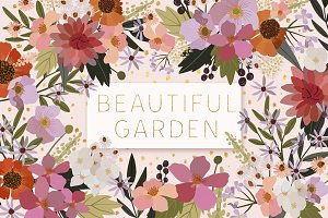 Beautiful Garden Vector Collection