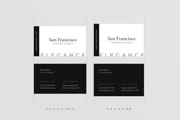 San Francisco Business Cards Business Card Templates Creative Market