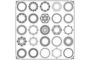 Vintage Set of Vector Round Elements