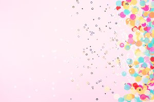 Festive background with confetti