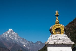 Buddhist stupa in the Himalayas