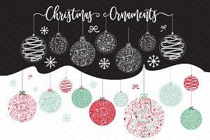 VECTOR / PNG CHRISTMAS ORNAMENTS
