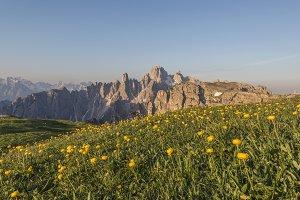 Mountain panorama in Dolomites