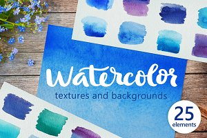 Watercolor Textures and Backgrounds