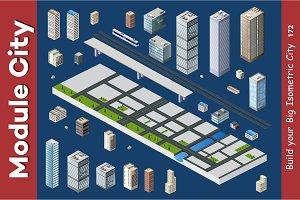 Vector isometric urban architecture