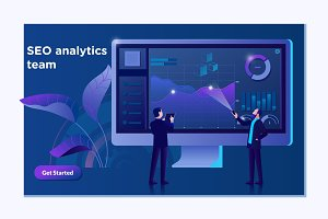 SEO analytics team landing page