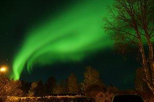 wonderful night with northern light