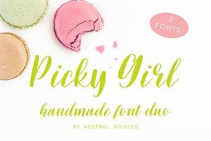 Picky Girl Font Pair