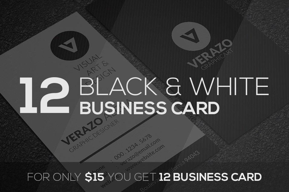 Black & White Business Card Bundle ~ Business Card Templates ...