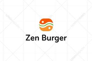 Zen Burger Sandwich Logo