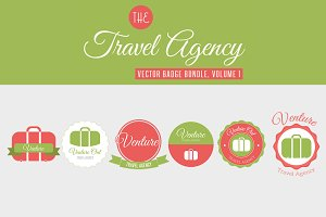 Travel Vector Badge Bundle, Vol 1