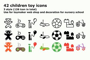 Children toy icons