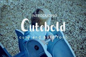 Cutebold - display font