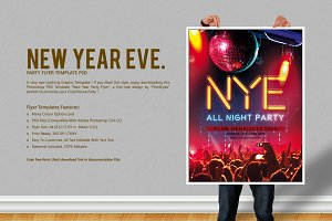 New Year Eve. Party Flyer