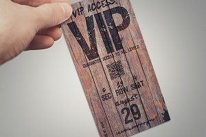 Magical wood vip pass card