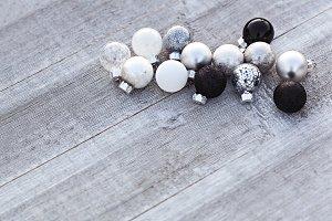 Black, White And Silver Balls