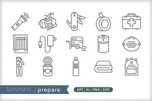 Minimal prepare icons