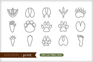 Minimal print icons