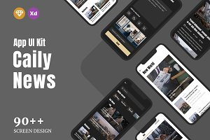 Caily News - Magazine & News UI Kit