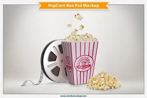 Popcorn Box Psd Mockup