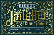 Jailetter Typeface + Extras by  in Blackletter Fonts