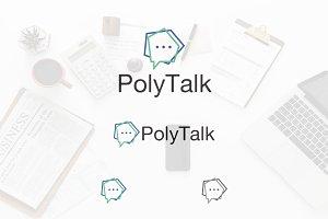 Pentagon Polygon Message Talk Logo