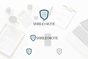 Text Message Shield Security Logo