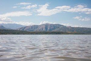 Lake and mountain in Ethiopia