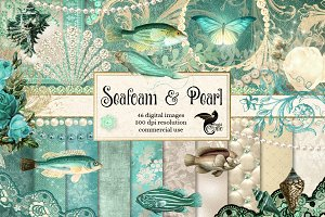 Seafoam and Pearl Nautical Graphics
