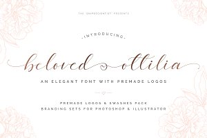 Beloved Ottilia Font + Free Logos