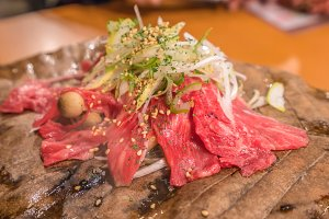 Japanese beef Wagyu grill on stove