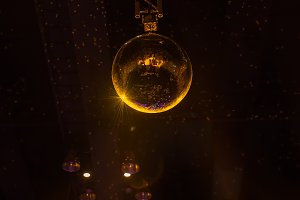 Disco ball with bright rays