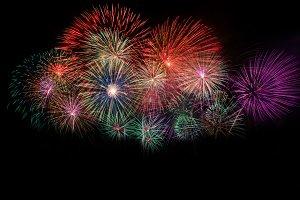Beautiful colorful fireworks night