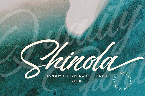 Script Fonts - Shinola Handwritten Script