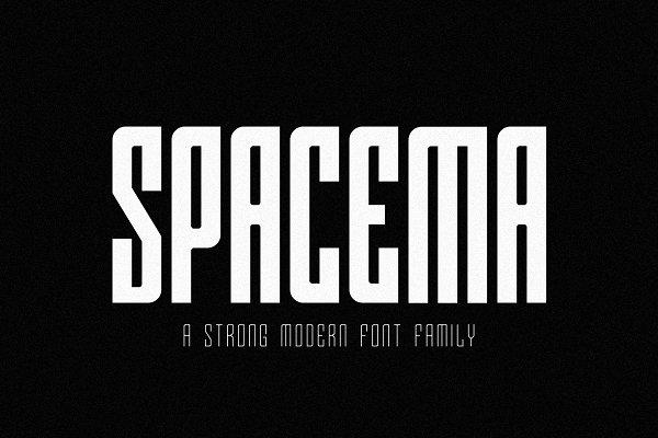 Sans Serif Fonts: kiranuk - SPACEMA FONT FAMILY