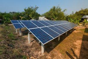 Solar panels generator the industry
