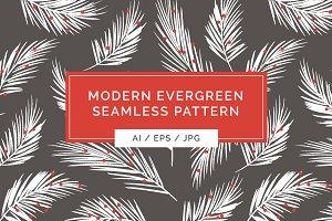 Modern Evergreen Seamless Pattern