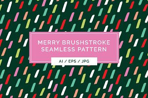 Merry Brushstroke Pattern
