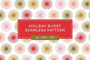 Holiday Burst Seamless Pattern