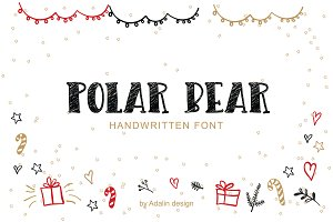 Polar Bear-Christmas Typeface