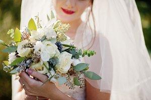 Portrait of a gentle gorgeous bride