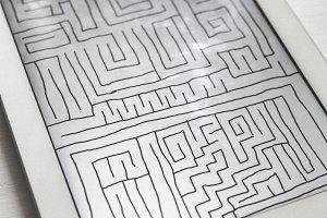 Maze in a digital tablet