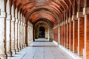 Arcade in Royal Palace of Aranjuez