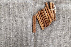long sticks of cinnamon