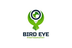 Bird Eye Photography Logo Template