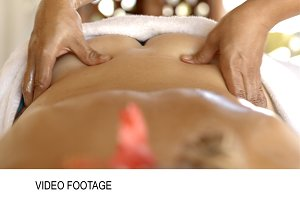 Professional back massage beauty spa