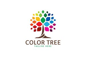 Color Tree Logo Template